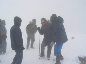 Climb Kilimanjaro White Out