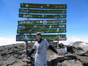 Kat Sundberg at Uhuru Peak
