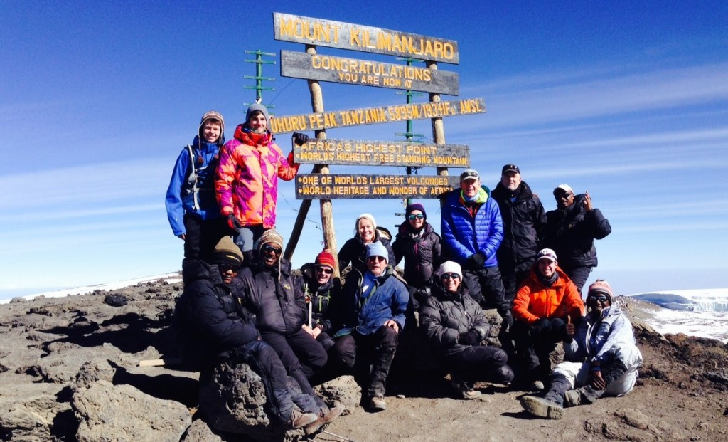 Kilimanjaro Summit Sign 2014