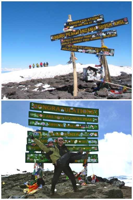 The 3 Kilimanjaro Summit Signs