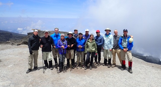 Tusker Group on top of the Barranco Wall