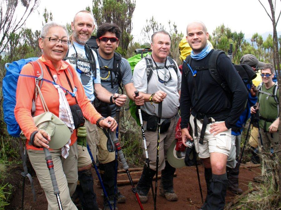Genny climbing Kilimanjaro