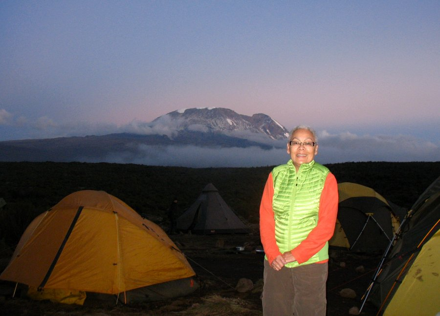 Genny Plank at Shira Camp on Kilimanjaro
