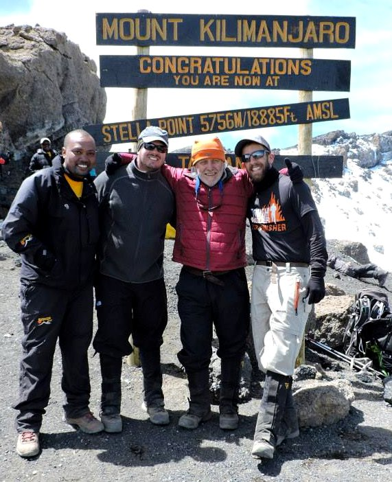 Tusker Trail Guide Kombe and Bill on Kilimanjaro