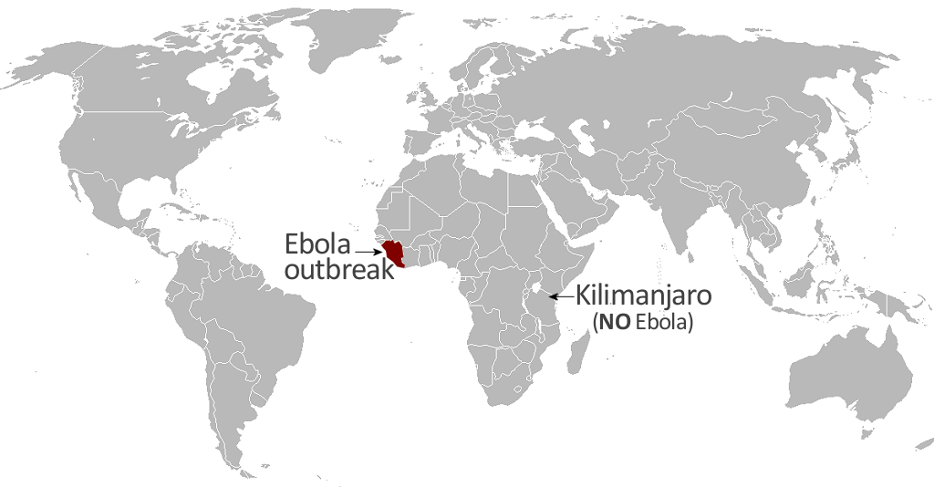 World Map of Ebola Outbreak