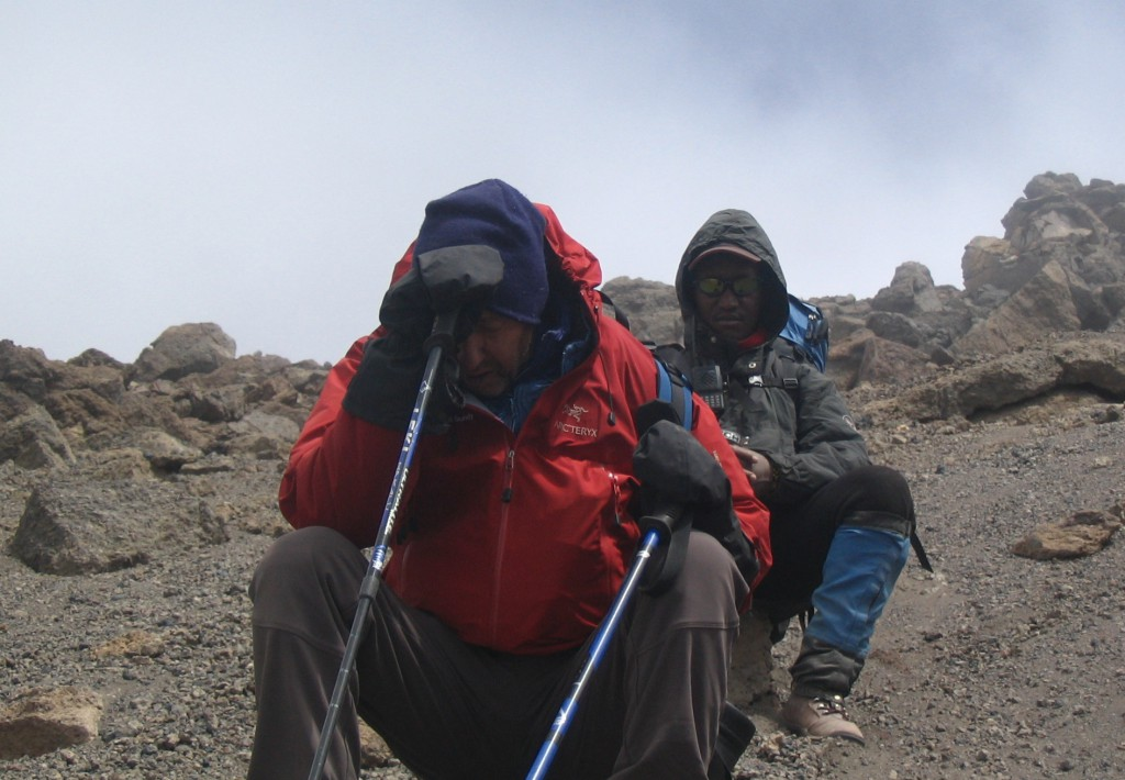Altitude headache on Kilimanjaro