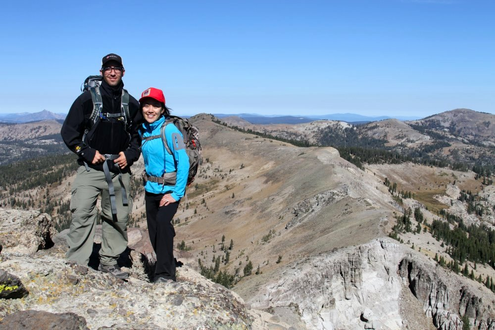 Tusker Guides Mel and Duncan on a training hike in the Sierras