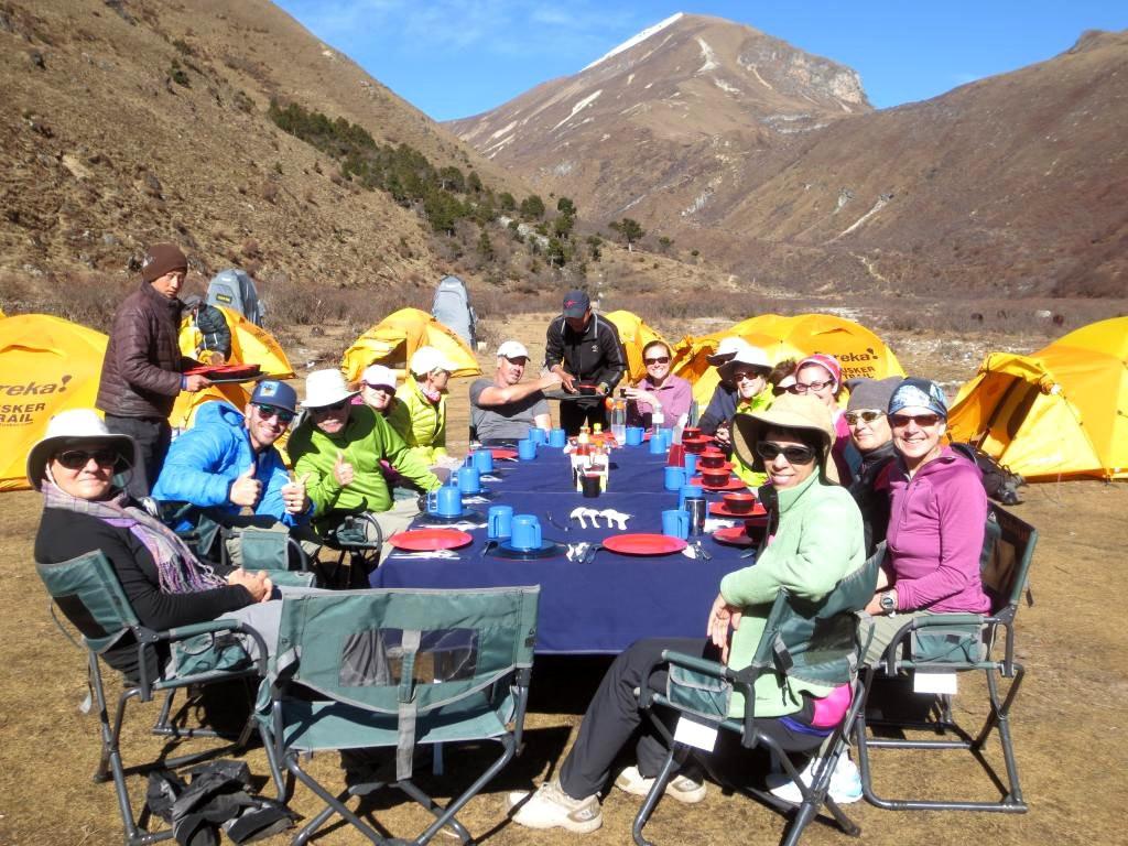 Tusker Bhutan Trekkers at Camp