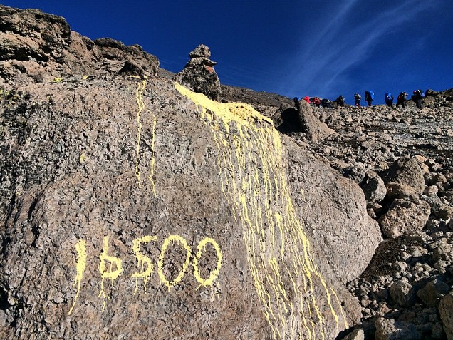 Summit push on Kilimanjaro. By Troy Paff