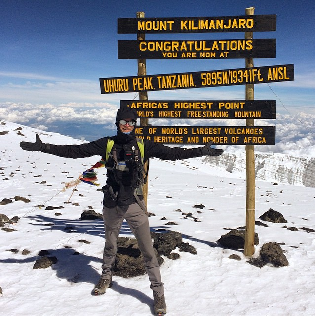 Troy Paff on the summit of Kilimanjaro