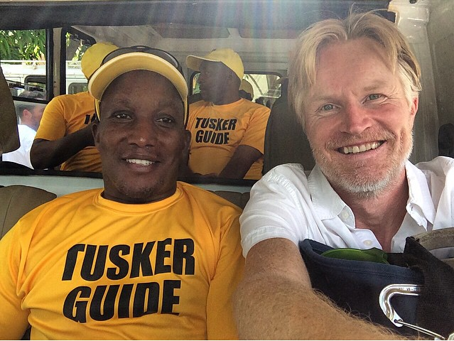 Tusker Kilimanjaro Guide Simon with Troy Paff