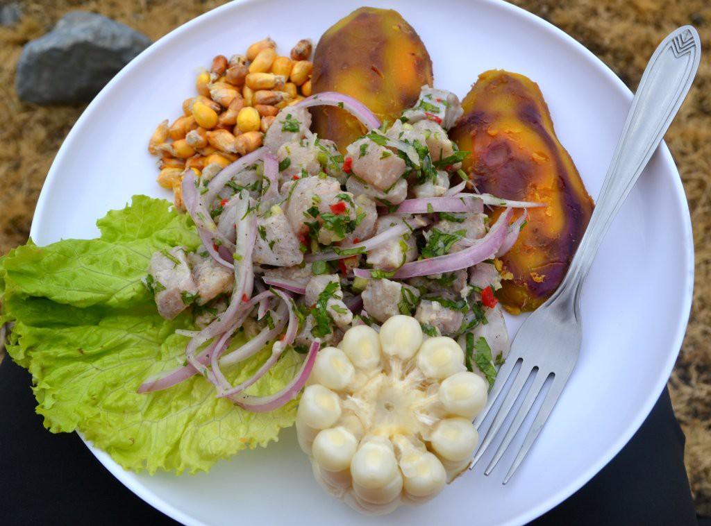 Ceviche on Tusker Peru Trek