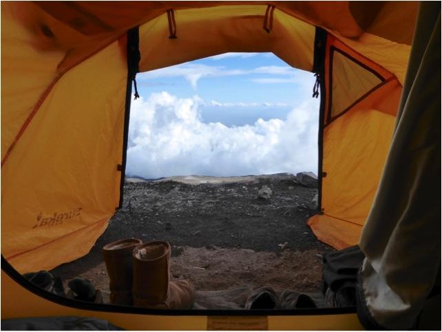 Tusker tent on Kilimanjaro