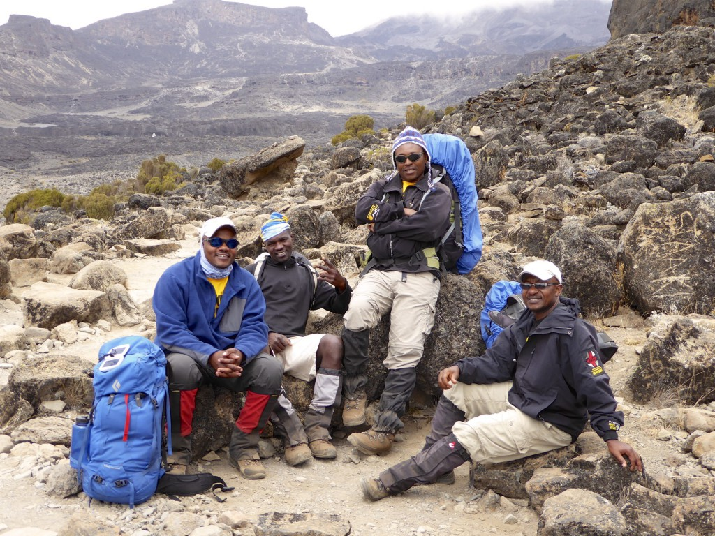 Tusker Kilimanjaro Guides and crew