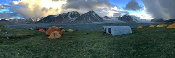 dusk falls in Mongolia