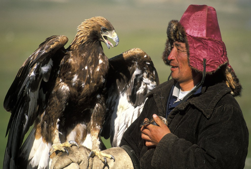 Mongolian Eagle Hunter by Ted Wood