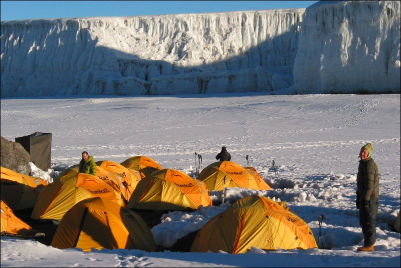 Camping in Kilimanjaro's Crater